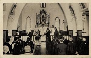 キリスト教会での和服の結婚式